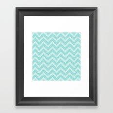 Chevron Aqua Dreams Framed Art Print