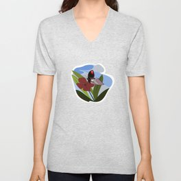 Chaos within. Butterly. Unisex V-Neck