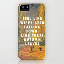 Vincent van Gogh, Avenue in Arles (1888) / Halsey, Empty Gold (2014) iPhone Case