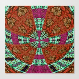 Gothic Power Cross Bold Canvas Print