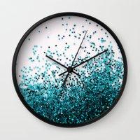 swim Wall Clocks featuring Swim by Galaxy Eyes