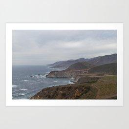 The Bixby Bridge on the California Coast Art Print