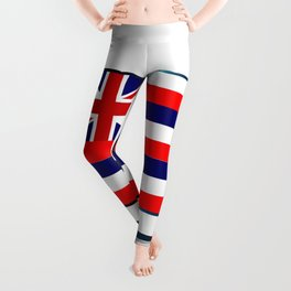 Hawaii Flag TV Leggings