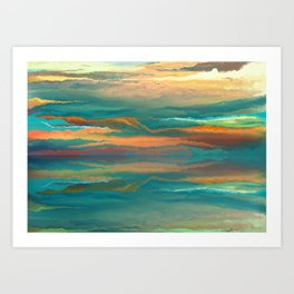 Landscape reflection Art Print