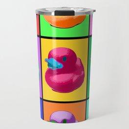 Pop Art Ducky Travel Mug