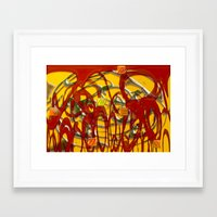 numbers Framed Art Prints featuring Numbers by LoRo  Art & Pictures