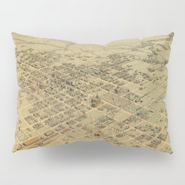 Vintage Pictorial Map of Bakersfield CA (1901) Pillow Sham