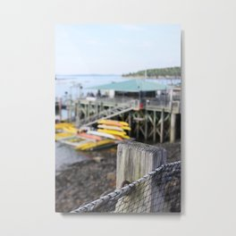 kayaks - Maine Metal Print