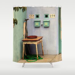 That Useless Ironing Board Shower Curtain
