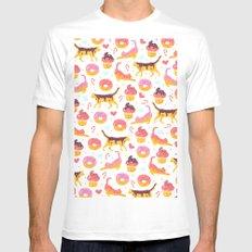 cat donut Mens Fitted Tee MEDIUM White