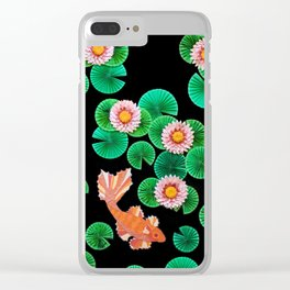 Koi fish with water lilies Clear iPhone Case