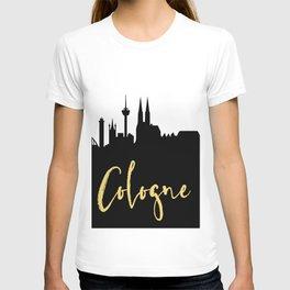 COLOGNE GERMANY DESIGNER SILHOUETTE SKYLINE ART T-shirt