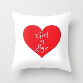 Girl Logic #1 Throw Pillow