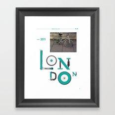 Bike to Life - London Framed Art Print