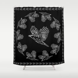 World crows. Crows in different framework, round, square. Shower Curtain