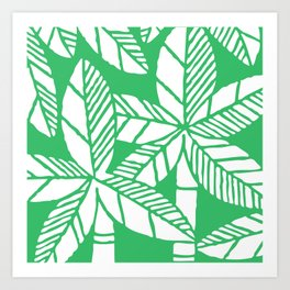 Tropical Palm Tree Composition Green Art Print