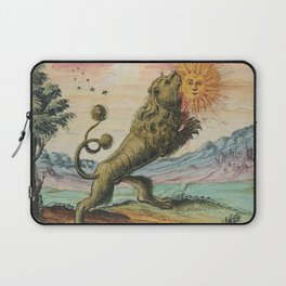 The Lion Eating The Sun Alchemy Illustration Laptop Sleeve