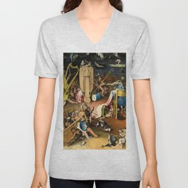 The Garden of Earthly Delights - Bosch - Hell Bird Man Detail Unisex V-Neck
