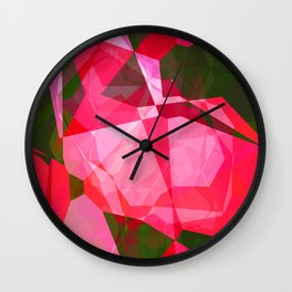 Pink Roses in Anzures 4 Abstract Polygons 2 Wall Clock