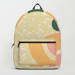 Abstract Minimal Print, Boho Print, Geometric Shapes Poster, Digital Print, Green Yellow And Pink  Backpack