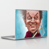jack nicholson Laptop & iPad Skins featuring Jack Nicholson caricature by Jordygraph