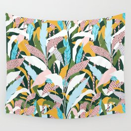 Fragmented Jungles Wall Tapestry