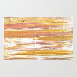 Gold abstract watercolor Rug