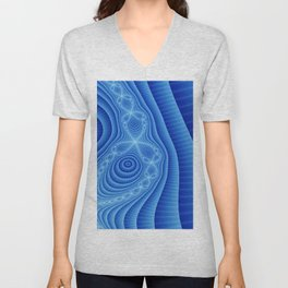 Blue Lace Unisex V-Neck