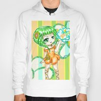 vocaloid Hoodies featuring Gumi CHIBI FANART  by jannaj