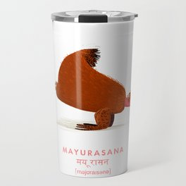 Mayurasana Chicken Yoga Travel Mug