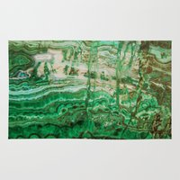 malachite Area & Throw Rugs featuring MINERAL BEAUTY - MALACHITE by Catspaws