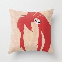 gurren lagann Throw Pillows featuring Minimalist Yoko by 5eth