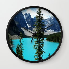 Moraine Lake, Canada Wall Clock
