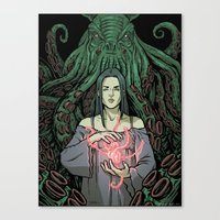 lovecraft Canvas Prints featuring Lovecraft - 01 by ChiaraDi Francia