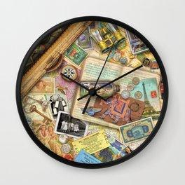 Vintage World Traveler Wall Clock