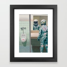 Men's Room Framed Art Print