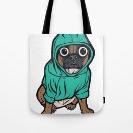 French Bulldog Hoodie Tote Bag