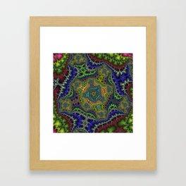 Fractal Cartouche Framed Art Print