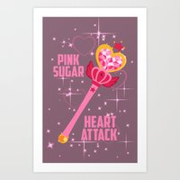 Pink Sugar Heart Attack! Art Print