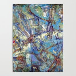 Dragonflies in blue Poster