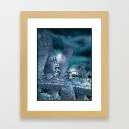 Out for a little walk in the moonlight… Framed Art Print