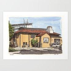 Old Boiler Building, UC Davis Art Print