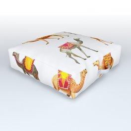 Cute watercolor camels Outdoor Floor Cushion