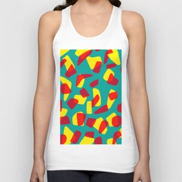 happy shapes Unisex Tank Top