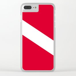 Diver Flag Clear iPhone Case