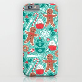 Gingerbread Christmas Treats iPhone Case