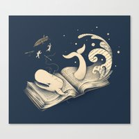 dick Canvas Prints featuring Moby Dick by Enkel Dika