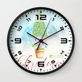 Merry Christmas tree #3 Wall Clock