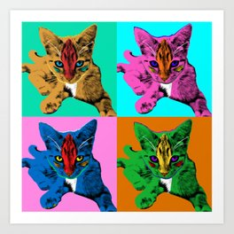 Loli 4sies: Garfield Arlene Genie Shriek Art Print