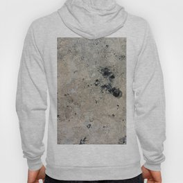 Abstract vintage black gray ivory marble Hoody